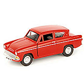 Saico - Red Ford Anglia 1:32 Scale