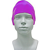 Speedo Junior Plain Moulded Silicone Swimming Cap - Purple