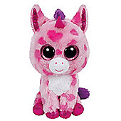 TY Beanie Boo Plush - Sugar Pie the Unicorn 15cm (Valentines Exclusive)