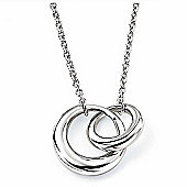 Interlocking Links Silver Necklace
