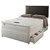 Silentnight Miracoil Pillowtop Fiji  4 Drawer Divan set - Double (4ft 6in)