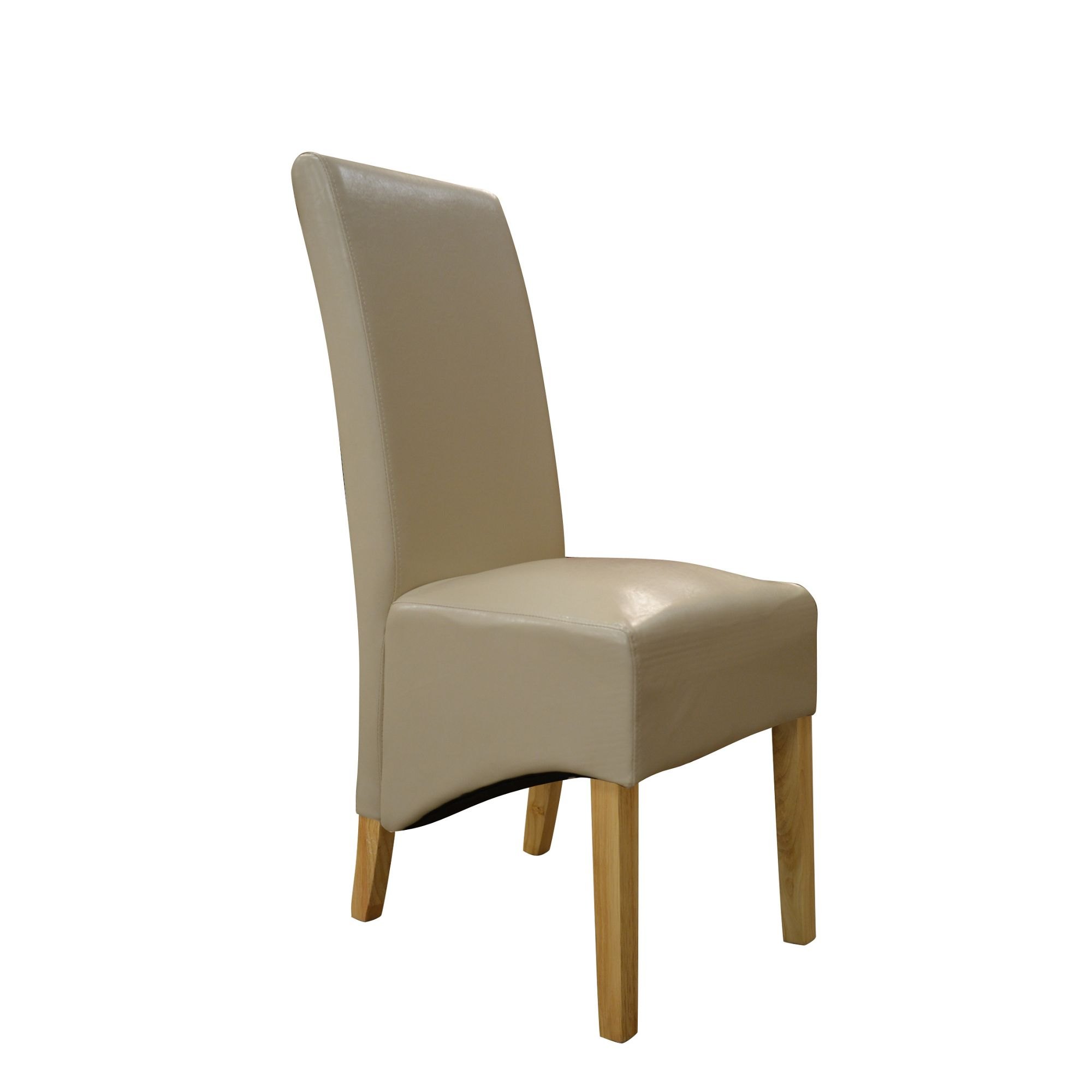 Belgravia Cream Bicast Leather High Back Dining Chair