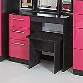 Welcome Furniture Knightsbridge Writing Desk - Aubergine - Black