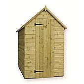 7ft x 4ft Windowless Pressure Treated T&G Apex Shed + Single Door