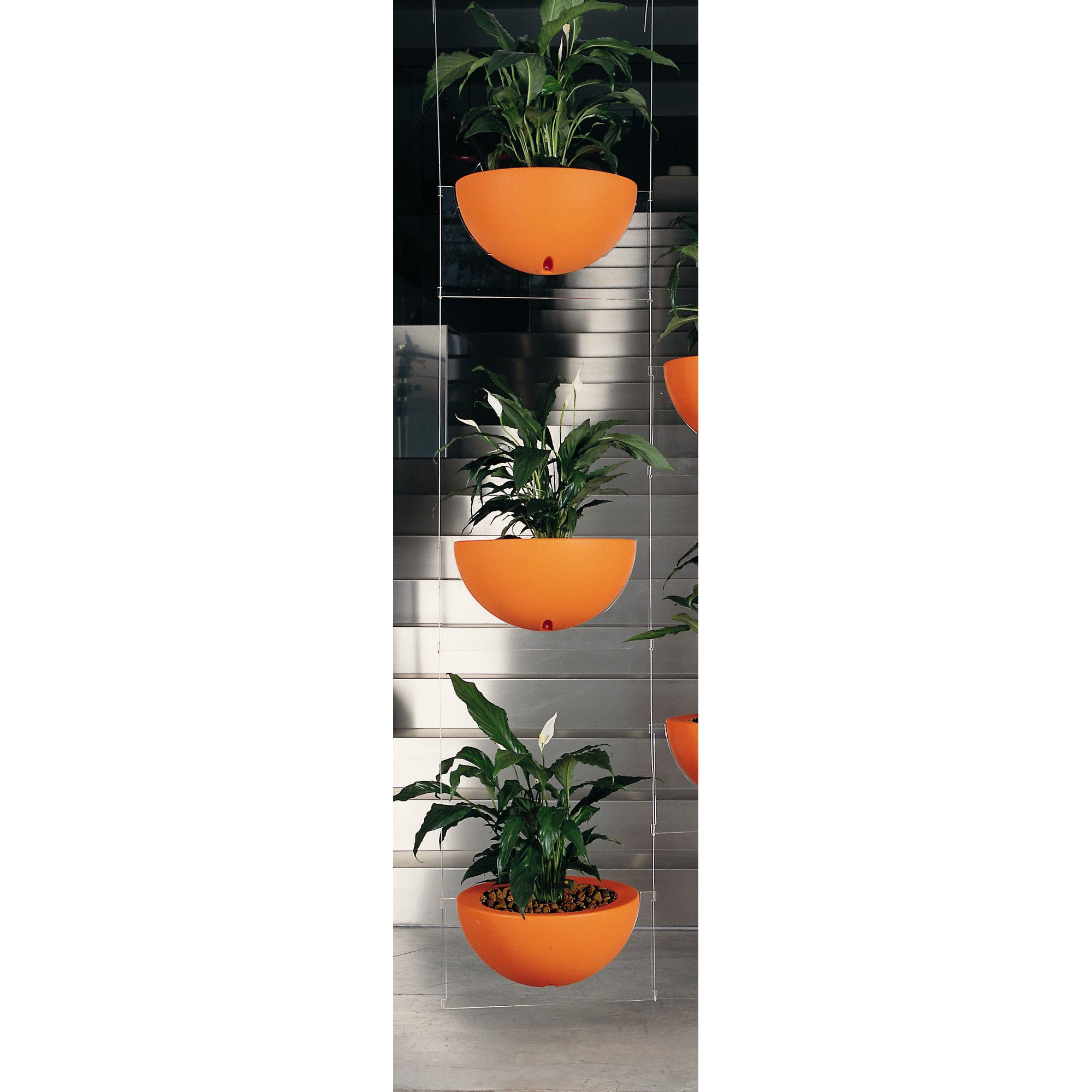 Emporium Positive Design Eebavoglio Triple Flower Tray - Orange at Tesco Direct