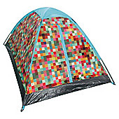 Tesco 2-Man Festival Dome Tent, Colour Block