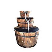 Bentley Garden 3 Tier Wooden Barrel Water Feature
