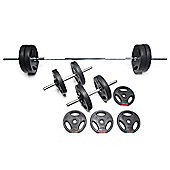 Body Power 37kg Tri-Grip Vinyl Weight Set