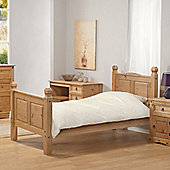 Aztec Corona Mexican Solid Pine Single Bed Frame