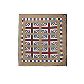 Woven Magic Union Jack Patriotic Plaids Crib Throw