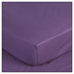 Tesco Egyptian Cotton Fitted Double Sheet, Dark Heather