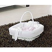Leipold Topaz Layette Basket in White