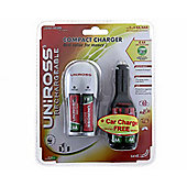 Uniross XMS10CHARGER Battery Charger Set With Aa Batteries