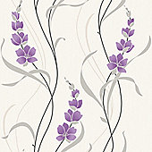 Muriva Angelica Wallpaper - Purple