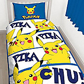 Pokemon Pikachu Single Bedding and Cushion