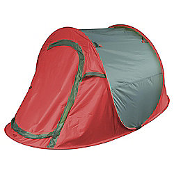 Tesco 2-Man Grey & Red Pop Up Tent