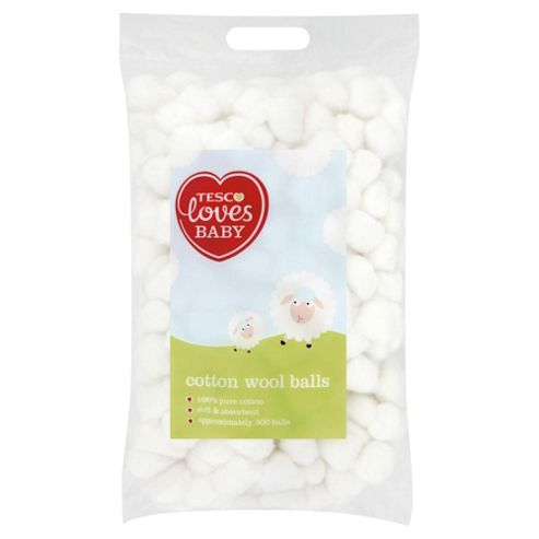 Tesco Loves Baby Cotton Wool Balls 300S