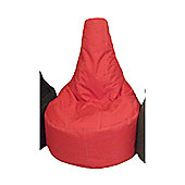 Ashcroft Outdoor Large Bean Bag Gaming Chair - Red