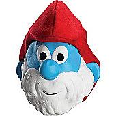 Rubies Fancy Dress - Papa Smurf 3/4 Latex Mask - ADULT ONE SIZE