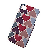 "Tortoiseâ""¢ Look Hard Protective Case, iPhone 4/4S, Coloured Hearts design."