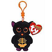 """Ty Beanie Boo Boos 3"""" Key Clip - Fangs the Bat (Halloween Exclusive)"""