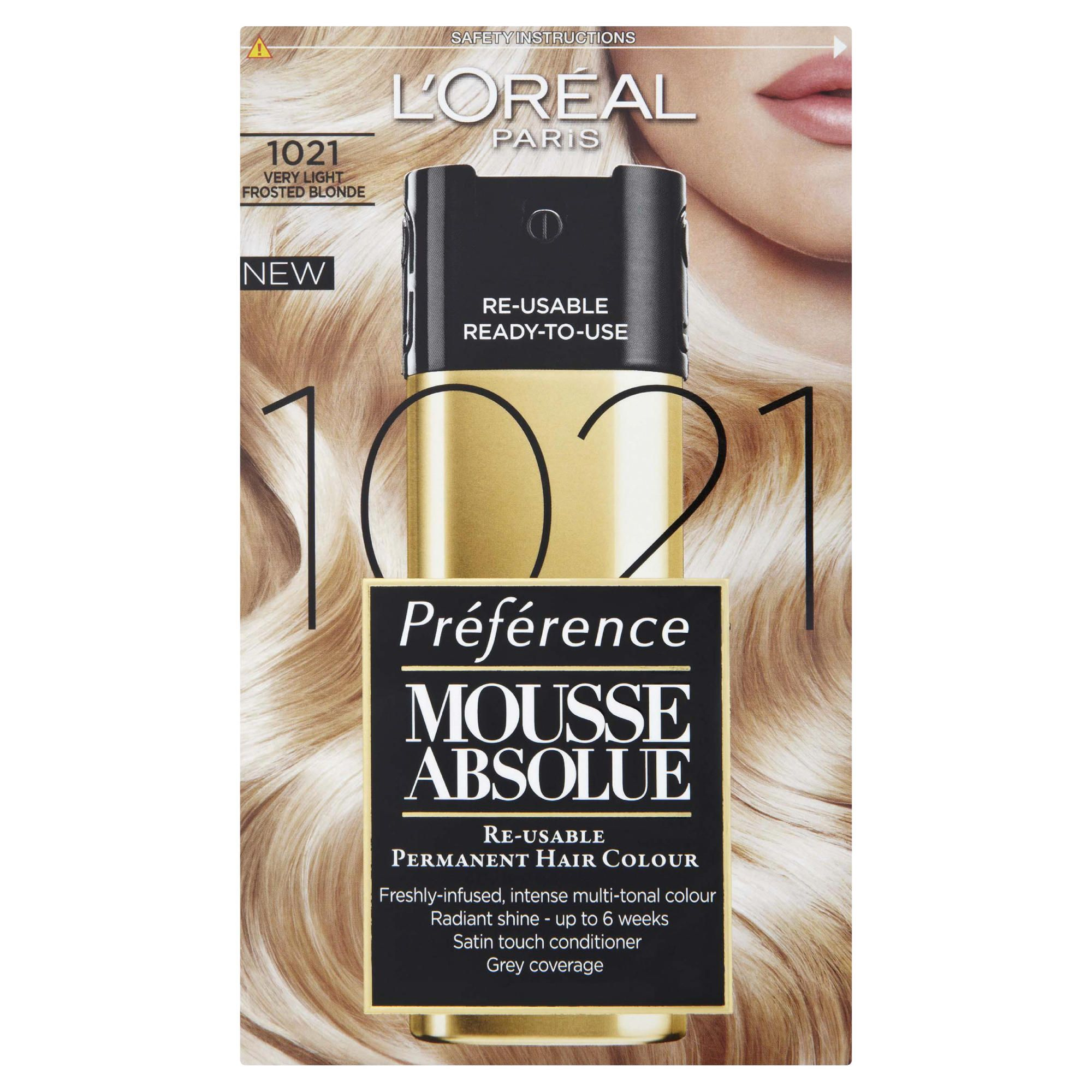 L'Oreal Mousse Absolue Very Light Icy Blonde 1021