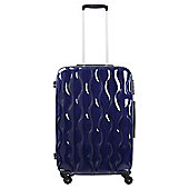 Tesco 4-Wheel Gloss Suitcase, Navy Blue Small