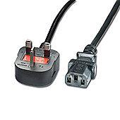 Lindy 5m Mains Power Lead UK 3 Pin Plug Black