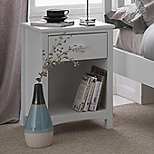 Serene Furnishings Eleanor 1 Drawer Bedside Table - Opal White