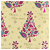 Tesco Bright Tree Gold Christmas Wrapping Paper, 4m