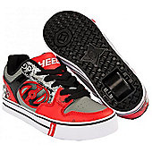 Heelys Motion Plus Red/Black/Grey/Skulls Heely Shoe - Black