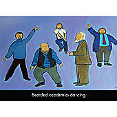 Holy Mackerel Beard Academics Dancing Greetings Card