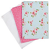 Tesco English Rose Tea Towel 3 Pack