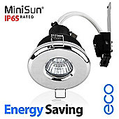 MiniSun IP65 Energy Saving ECO GU10 Bathroom Downlight in Chrome