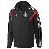 2014-15 Germany Adidas Travel Jacket (Black) - Black