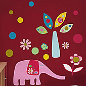 Elephant Fun Giant Wall Stickers