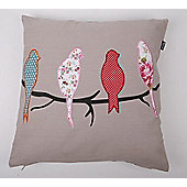 In The Mood Collection© Birds Applicated Cushion Cover - Sand