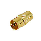 Gold Plated Coax Coupler