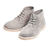 Lightweight Brushed Suede Desert Boots (Pair) - Grey