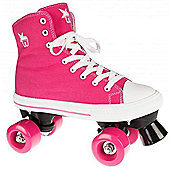 Rookie Quad Skates - Canvas High Stars Blue/White - Size - UK 2 - Pink