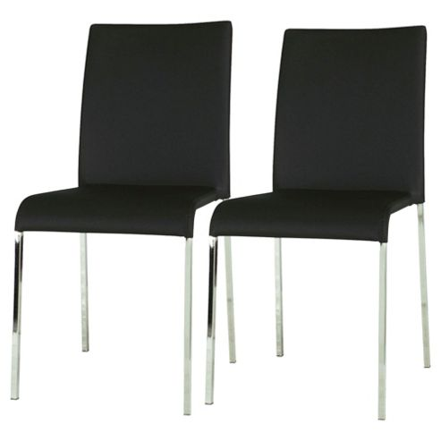 Denna Pair Dining Chairs Black
