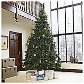 Festive 12ft Pre-lit Colorado Spruce Christmas Tree with warm white LED lights