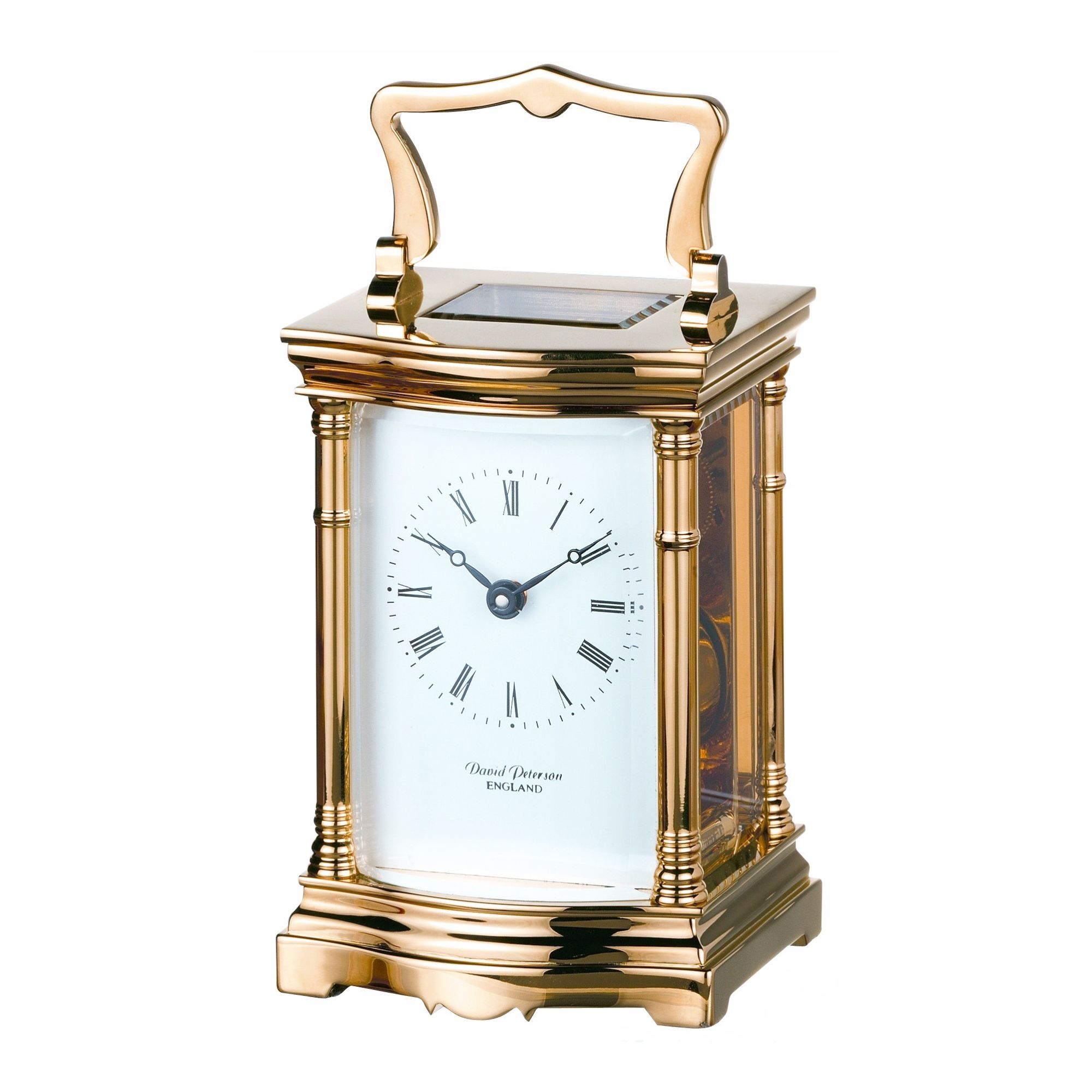 David Peterson Ltd 8 Day Bow Fronted Carriage Clock at Tesco Direct