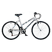 "17"" Reflex Intrigue Ladies, 18 Speed, Chrome Silver"