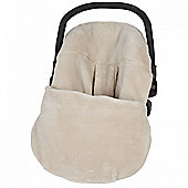 Clair de Lune Plush Car Seat Footmuff (Cream)