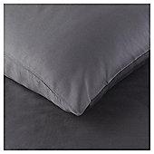 200TC Luxury Cotton Standard Charcoal Pillowcase Pair
