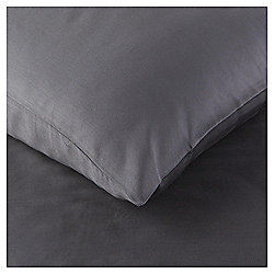 200TC Luxury Cotton Standard Charcoal Pillowcase Pair