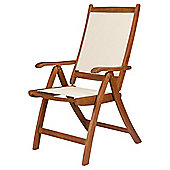 Windsor Folding Wood/Waterproof Woven Textile Dining Recliner Chair