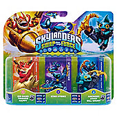 Skylanders Swap Force Triple Pack : Star Strike, Gill Grunt, and Trigger Happy