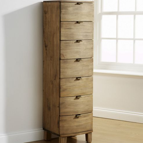 Elements Olivia Bow Curved 7 Drawer Tallboy Chest